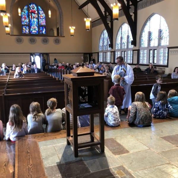 First Congo kids in church