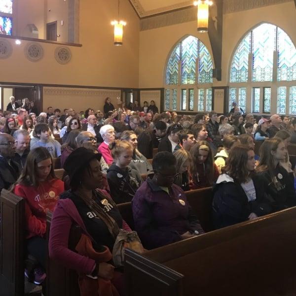 First Congo members in church