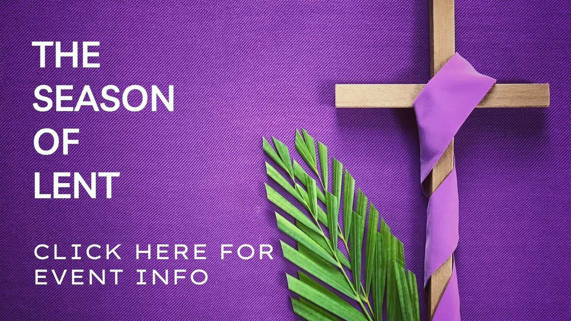 Lent season - events graphic