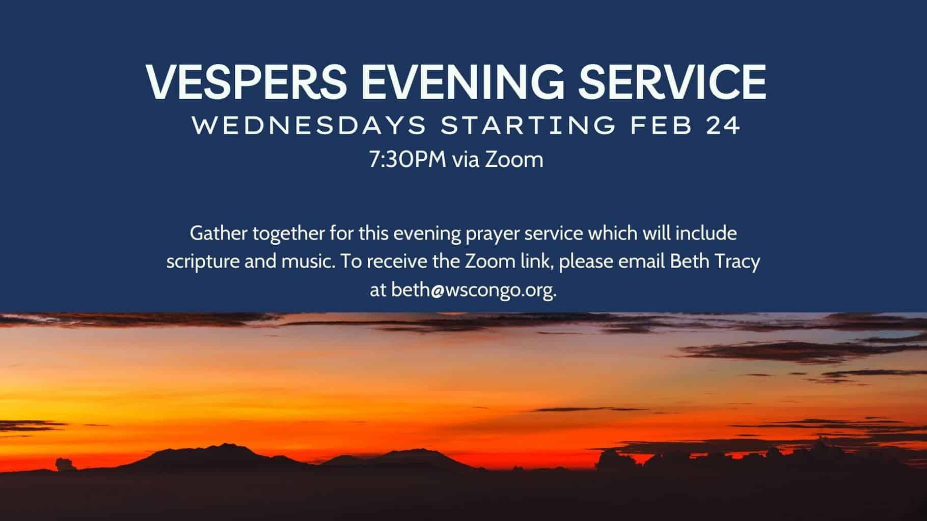 Vespers Evening prayer service