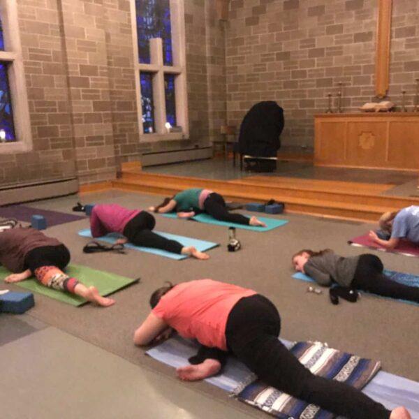 Faith and Flow Yoga in the church