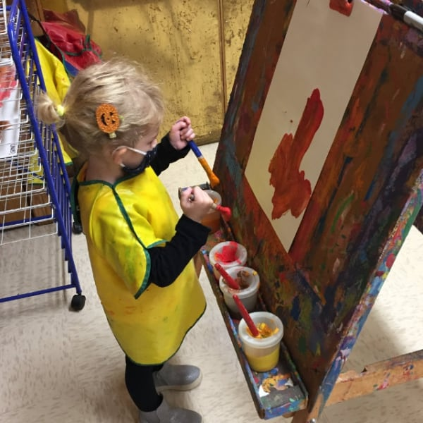 First Congo Preschool child painting