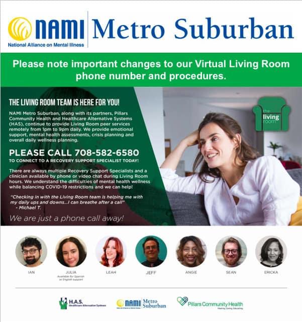 NAMI Living Room flyer