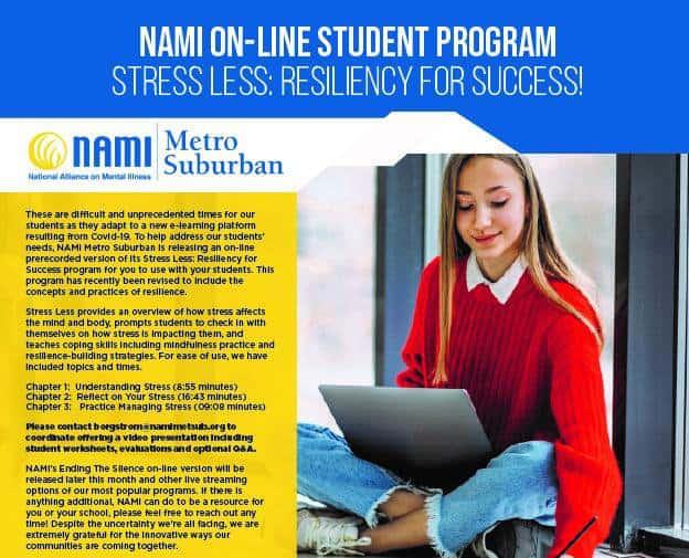 NAMI online learning poster