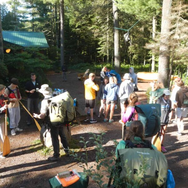 Youth program kids camping