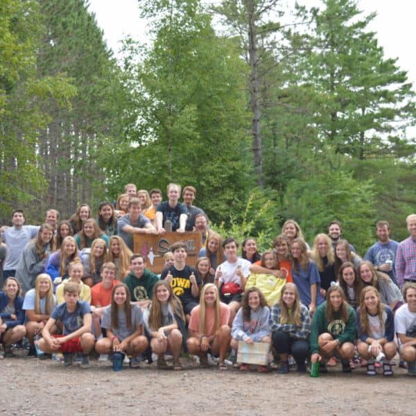 Youth Program canoe trip in 2018