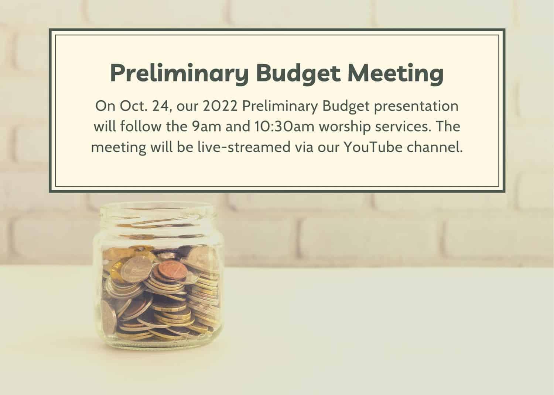 2022 preliminary budget